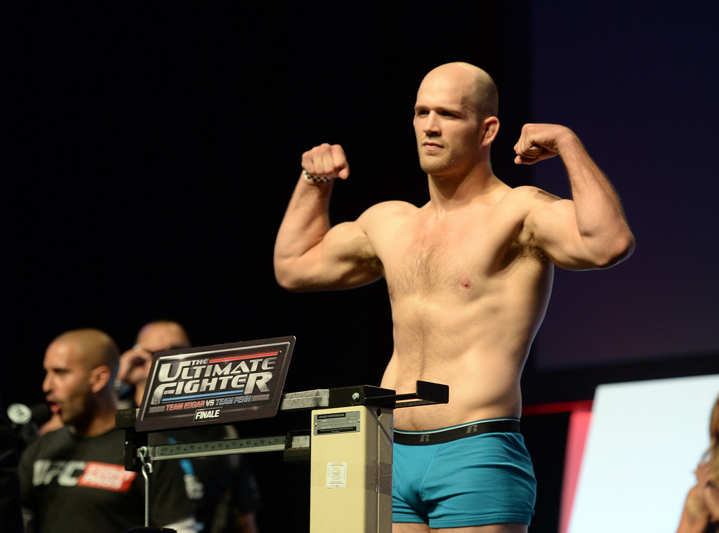. Keith Berish during weigh-ins for the TUF 19 Finale: Team Edgar vs Team Penn. (Photo by Hans Gutknecht/Los Angeles Daily News)
