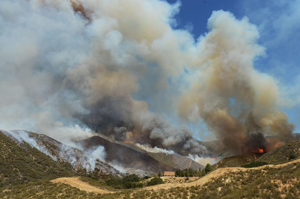 . The Powerhouse Fire burns near Green Valley, CA Friday, May 31, 2013.(Andy Holzman/Staff Photographer)