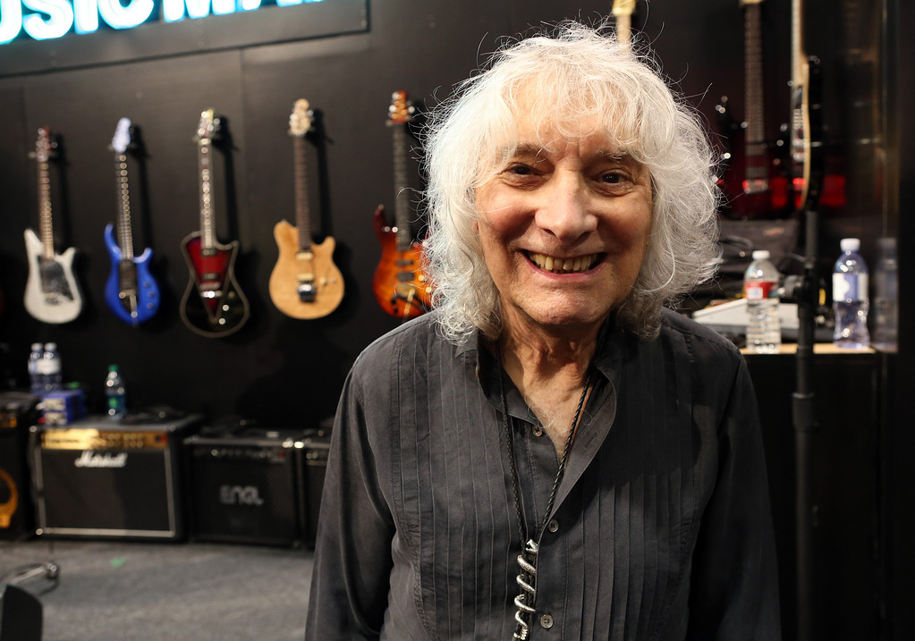 . ANAHEIM, CA - JANUARY 25: Guitarist Albert Lee attends the 2014 National Association of Music Merchants show at the Anaheim Convention Center on January 25, 2014 in Anaheim, California.  (Photo by Jesse Grant/Getty Images for NAMM)