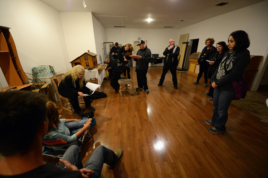 . Members of the Enlightened Paranormal Investigators of California get ready to hunt for ghosts at the Santa Clarita Historical Heritage Junction in Newhall Friday, October 25, 2013. (Photo by Hans Gutknecht/Los Angeles Daily News)