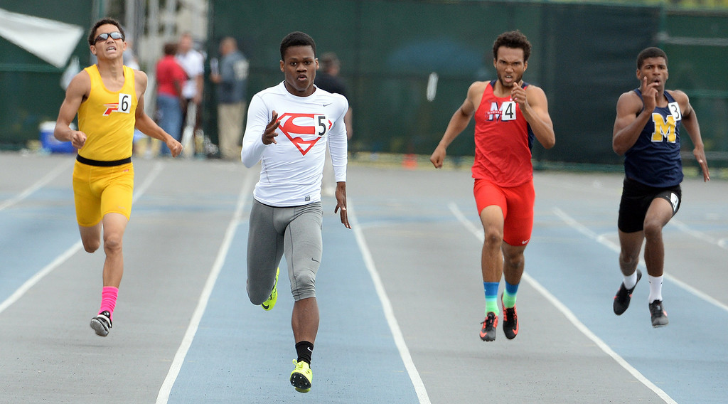 . Serra\'s Ronny Hall wins the division 4 400 meters race during the CIF Southern Section track and final Championships at Cerritos College in Norwalk, Calif., Saturday, May 24, 2014. 