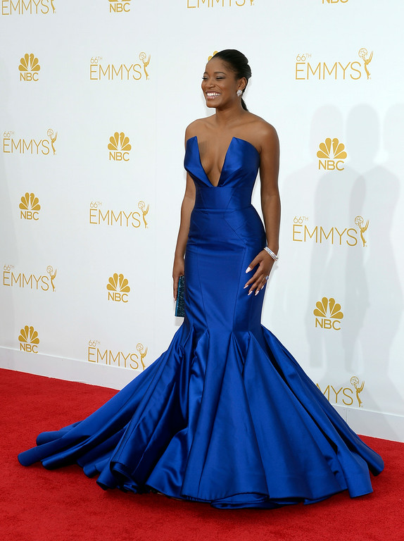 . Keke Palmer on the red carpet at the 66th Primetime Emmy Awards show at the Nokia Theatre in Los Angeles, California on Monday August 25, 2014. (Photo by John McCoy / Los Angeles Daily News)