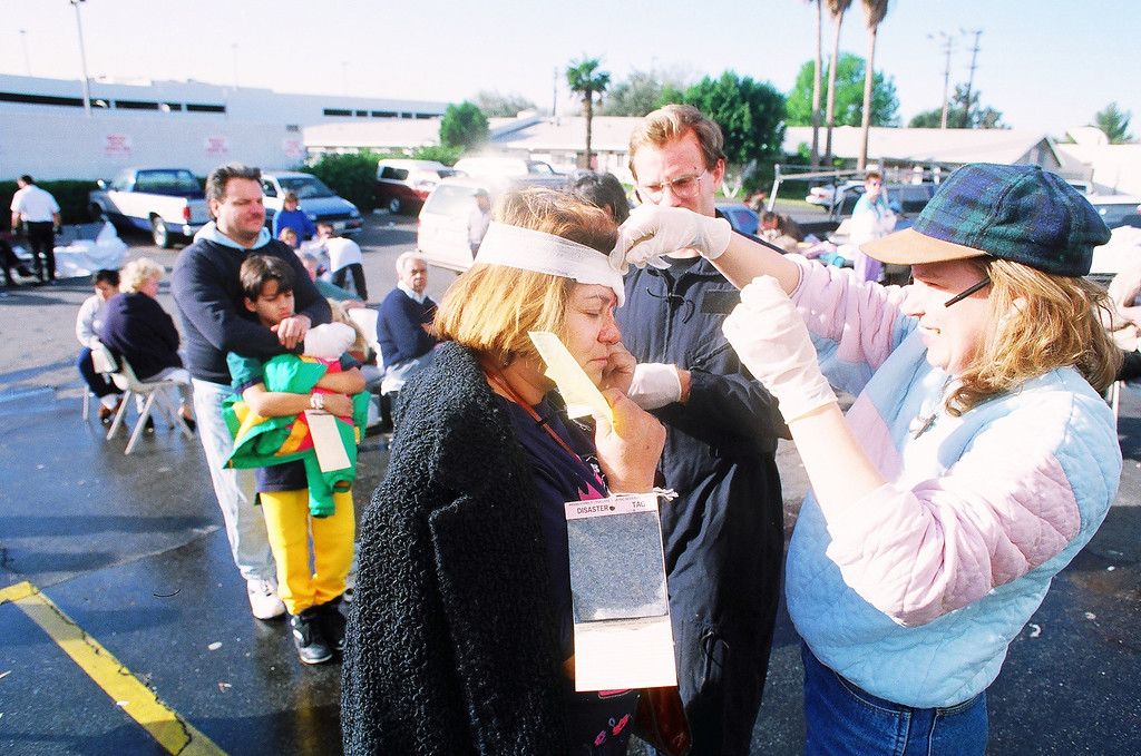 . First aid is provided at the Kaiser Permanente parking lot on Balboa Boulevard.   Los Angeles Daily News file photo