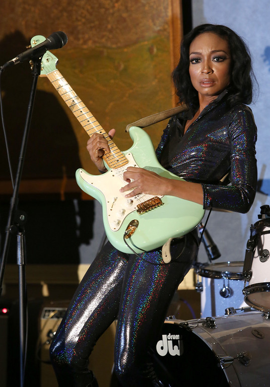 . ANAHEIM, CA - JANUARY 24: Musician Malina Moye attends the 2014 National Association of Music Merchants show at the Anaheim Convention Center on January 23, 2014 in Anaheim, California.  (Photo by Jesse Grant/Getty Images for NAMM)