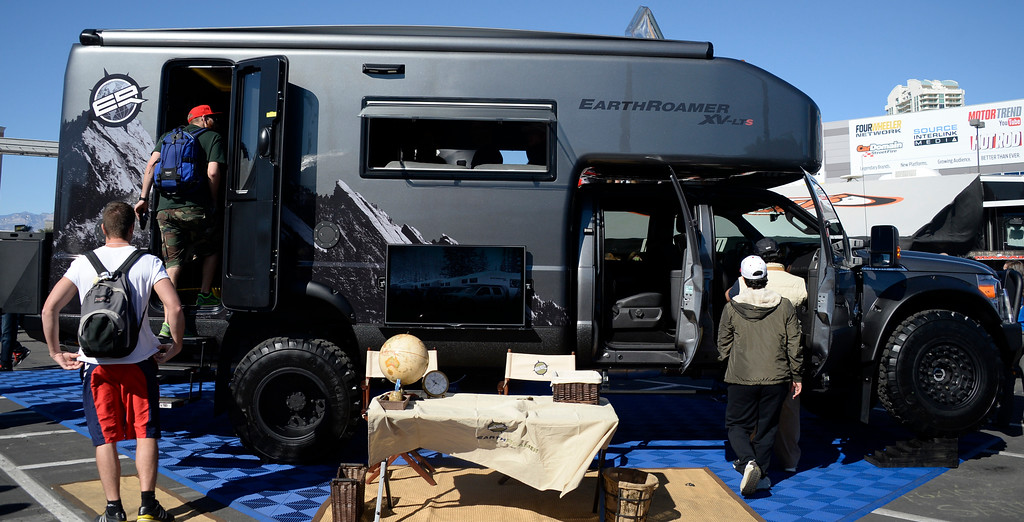 . Nov 5,2013 Las Vegas NV. USA. The EarthRoamer 4x4 on display during the first day of the 2013 SEMA auto show.
