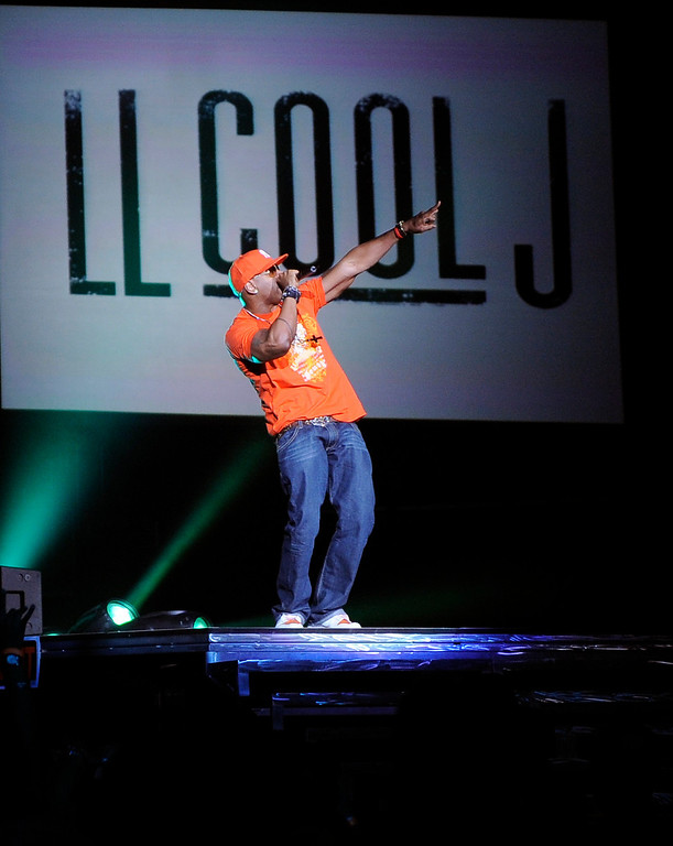 . Rapper LL Cool J performs during her concert, Wednesday, Sept. 17, 2008, in Los Angeles. (AP Photo/Mark J. Terrill)
