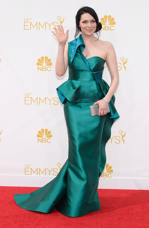 . Laura Prepon on the red carpet at the 66th Primetime Emmy Awards show at the Nokia Theatre in Los Angeles, California on Monday August 25, 2014. (Photo by John McCoy / Los Angeles Daily News)