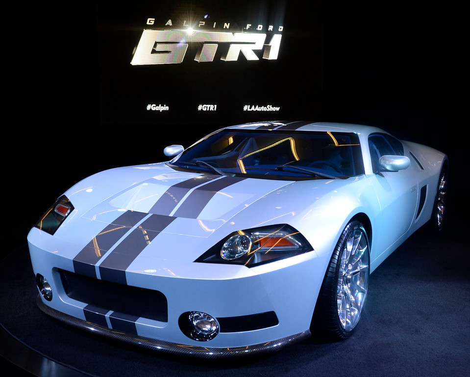 . Nov 22,2013 Los Angeles CA.  The Galpin Ford GTR 1 with 1024 HP on displays during the 2nd media day at the Los Angeles Auto Show. Photo by Gene Blevins/LA Daily News