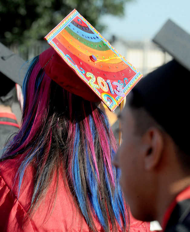. Sierra Vista High School Graduation in Baldwin Park Thursday, May 30, 2013.   (Walt Mancini/San Gabriel Valley News)