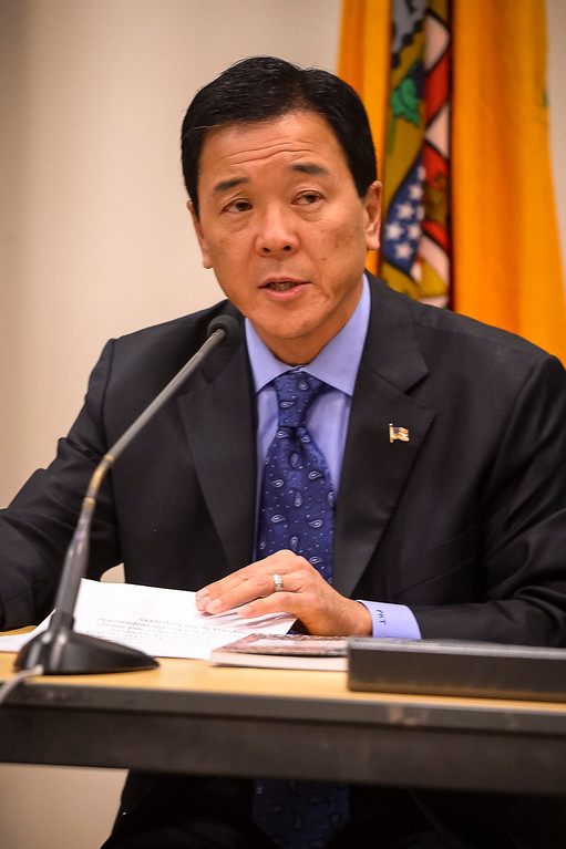 . Paul Tanaka,  candidate for Los Angeles County Sheriff, at a debate at the Van Nuys Neighborhood Council on Wednesday, March 12, 2014.   (Photo by David Crane/Los Angeles Daily News)
