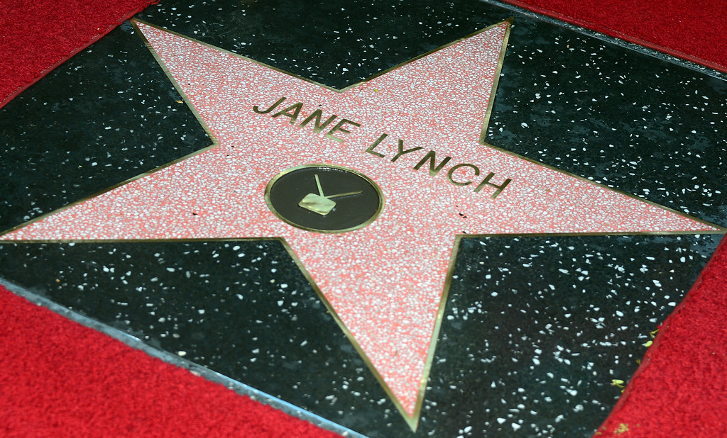 . Actress Jane Lynch received the 2,505 Star on the Hollywood Walk of Fame in the category of television during a cermeony honoring her on September 4, 2013 in Hollywood, California. (FREDERIC J. BROWN/AFP/Getty Images)
