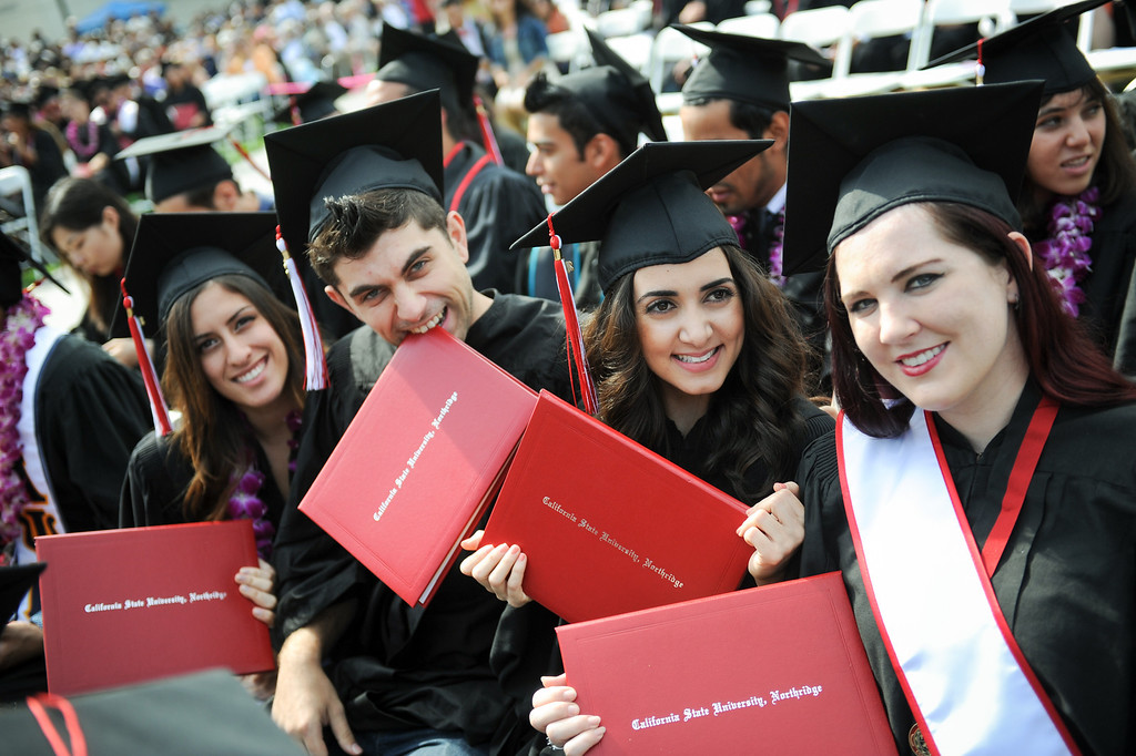 . Graduates at the CSUN commencement ceremony, Tuesday, May 21, 2013. (Michael Owen Baker/L.A. Daily News)
