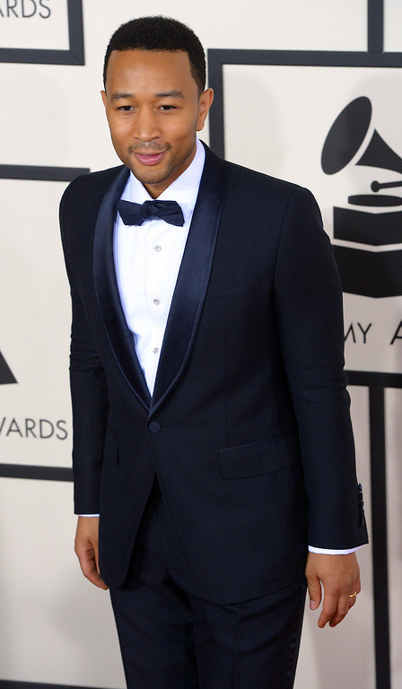 . John Legend arrives at the 56th Annual GRAMMY Awards at Staples Center in Los Angeles, California on Sunday January 26, 2014 (Photo by David Crane / Los Angeles Daily News)