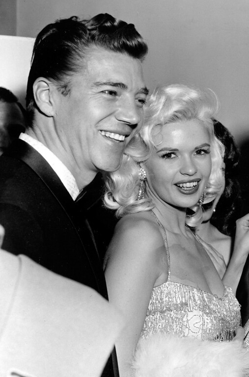 . Mickey Hargitay and Jayne Mansfield are seen at the Cocoanut Grove in Los Angeles in this Jan 31 1957 file photo. Hargitay, the actor and world champion bodybuilder was married to 1950s sex siren Jayne Mansfield. His daughter is Emmy-winning winning actress Mariska Hargitay. (AP Photo)