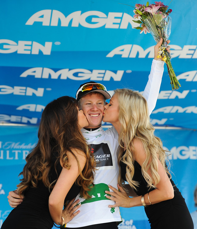 . Lawson Craddock wins Best Young Rider for Stage 4 at the Amgen Tour of California finish in Santa Barbara, Wednesday, May 15, 2013. (Michael Owen Baker/Staff Photographer)
