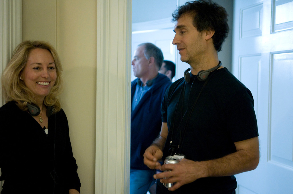 ". In this film publicity image released by Summit Entertainment, Valerie Plame, left, and director Doug Liman are shown on the set of ""Fair Game.\"" (AP Photo/Summit Entertainment, Ken Regan)"