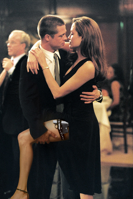 ". In this photo provided by Twentieth Century Fox,  As John Smith (Brad Pitt) and Jane Smith (Angelina Jolie) do a sexy tango, more of their secrets are uncovered in ""Mr. & Mrs. Smith.\""   (AP Photo/Twentieth Century Fox/Stephen Vaughn)"