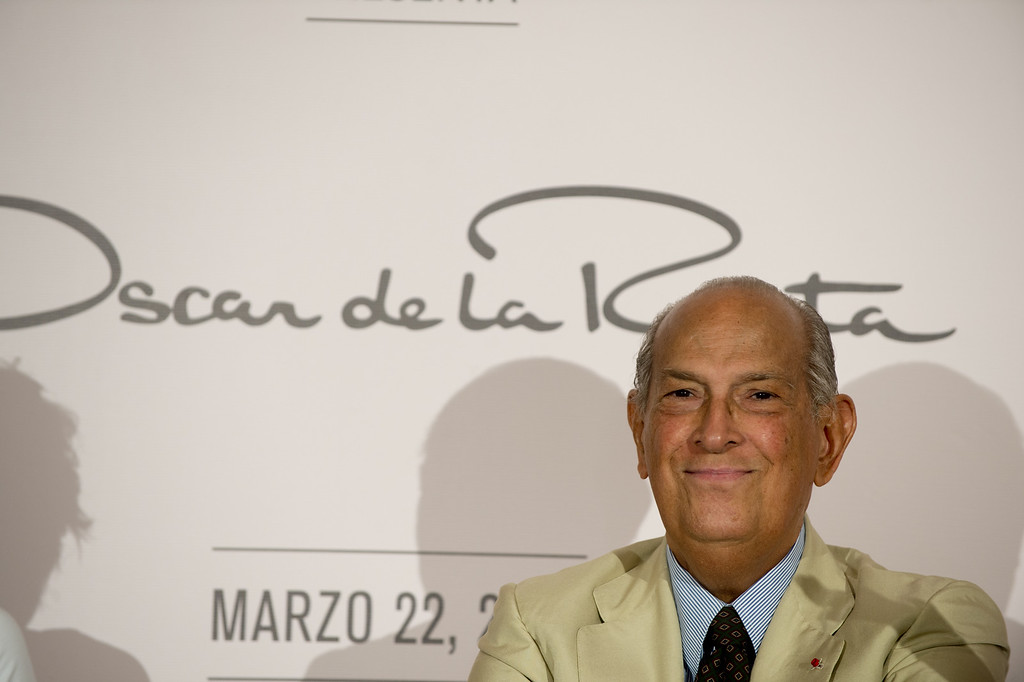 . Fashion designer Oscar de la Renta during a press conference in Mexico City on March 22, 2013. de la Renta died on Monday, October 20, 2014.    http://bit.ly/1vJrxpR        (YURI CORTEZ/AFP/Getty Images)