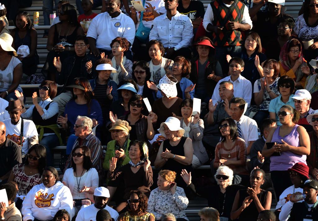 . (11-10-13)--POMONA-METRO--Thousands of poeple came to praise the lord  at the Pomona Day Of Prayer Sunday November 10, 2013 at Ganesha High School Nancy McCracken stadium in Pomona.LaFonzo Carter/ Staff Photographer