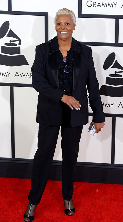 . Dionne Warwick arrives at the 56th Annual GRAMMY Awards at Staples Center in Los Angeles, California on Sunday January 26, 2014 (Photo by David Crane / Los Angeles Daily News)