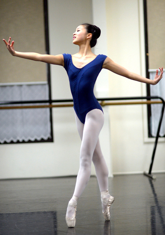 . Leili Rackow rehearses a scene from the Nutcracker at the California Dance Theater in Agoura, CA December 10, 2013.  Rackow will dance as Clara this month in Pacific Festival Ballet\'s The Nutcracker at the Fred Kavli Theatre in Thousand Oaks, CA.(Andy Holzman/Los Angeles Daily News)