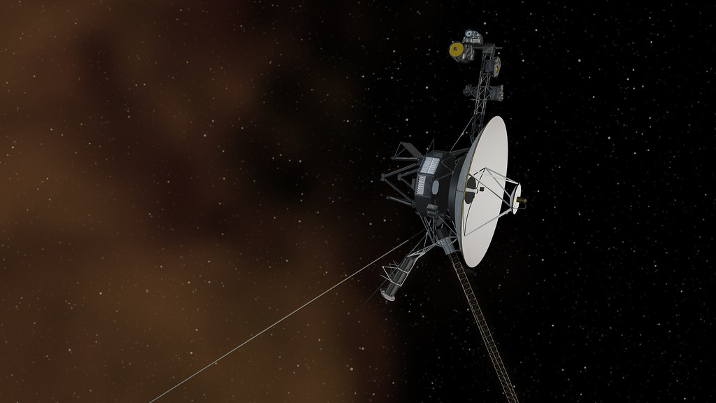 . This artist\'s concept depicts NASA\'s Voyager 1 spacecraft entering interstellar space, or the space between stars. Photo Courtesy of NASA