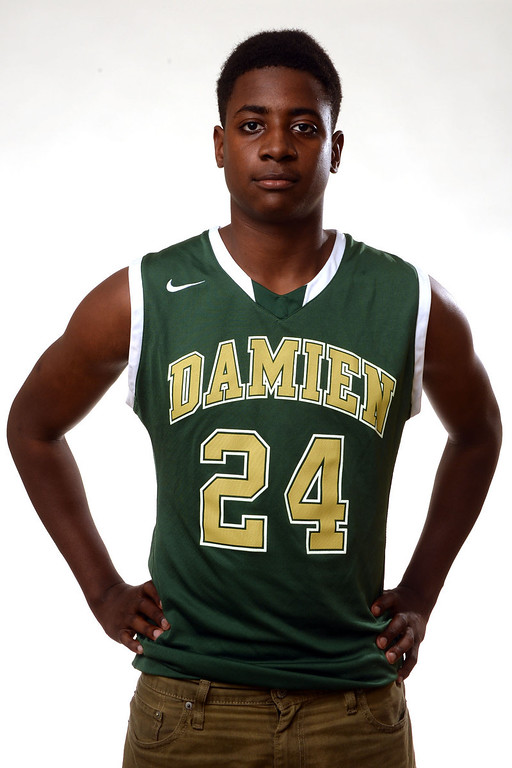 . Damien\'s Malik Fitts, All-Area basketball Players at the San Gabriel Valley Tribune in West Covina, Calif., on Tuesday, April 8, 2014.  (Keith Birmingham Pasadena Star-News)