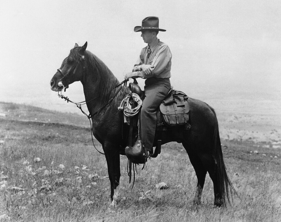 . Philip Knight Wrigley, President of Chicago Cubs and President of William Wrigley Jr., company, on horseback at Catalina Island during 1939. (AP Photo)