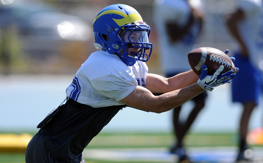 . RB Joe Mayorga during practice at San Dimas High School on Friday, Aug. 9, 2013 in San Dimas, Calif.   (Keith Birmingham/Pasadena Star-News)