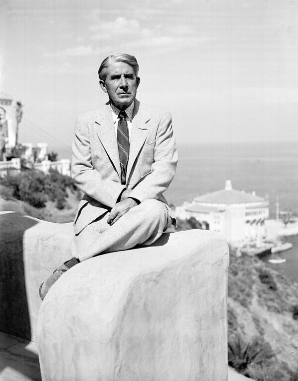 . Author Zane Grey is shown at his summer home on Catalina Island, Ca., on Oct. 12, 1936.  (AP Photo)