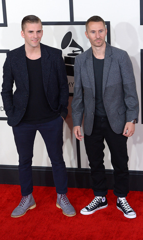. Galantis arrives at the 56th Annual GRAMMY Awards at Staples Center in Los Angeles, California on Sunday January 26, 2014 (Photo by David Crane / Los Angeles Daily News)