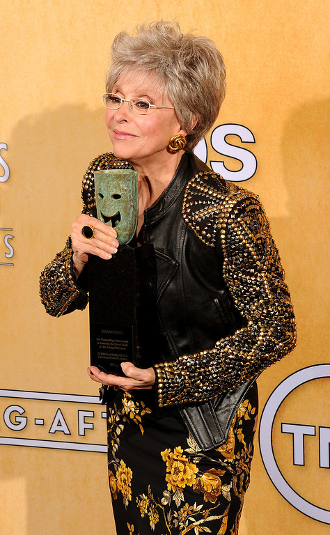 . Rita Moreno backstage at the 20th Annual Screen Actors Guild Awards  at the Shrine Auditorium in Los Angeles, California on Saturday January 18, 2014 (Photo by John McCoy / Los Angeles Daily News)