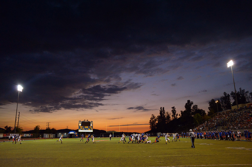. Westlake High hosts Canyon for their first home game August 30, 2013 in Westlake Village, CA.(Andy Holzman/Los Angeles Daily News)