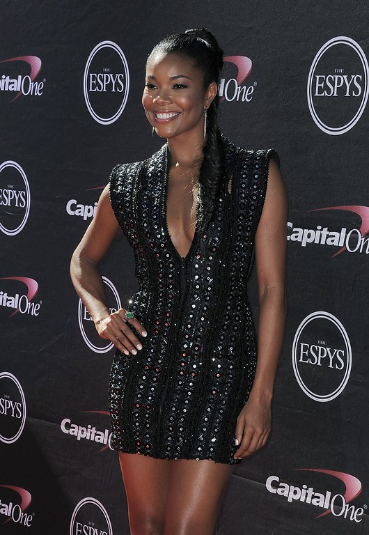 . Gabrielle Union arrives at the ESPY Awards on Wednesday, July 17, 2013, at Nokia Theater in Los Angeles. (Photo by Jordan Strauss/Invision/AP)