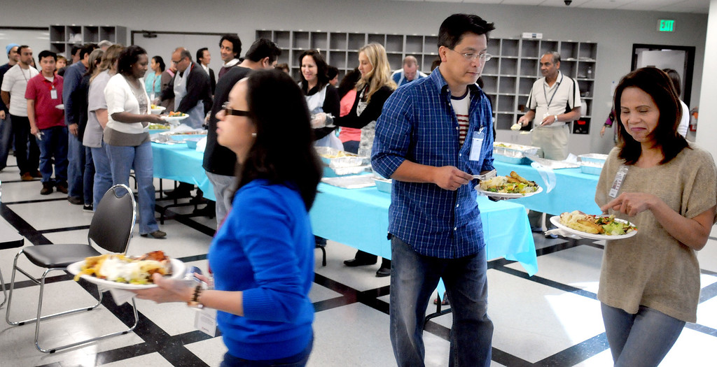 . Natel\'s employee luncheon on the 20th anniversary of the Northridge earthquake at the Chatsworth facility on January 17, 2014.  (Photo by Dean Musgrove/Los Angeles Daily News)