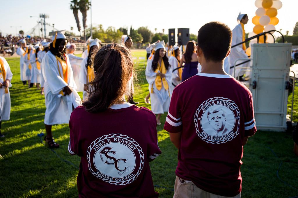 . Kennedy High school graduation Thursday, June 5, 2014.   ( Photo by David Crane/Los Angeles Daily News )