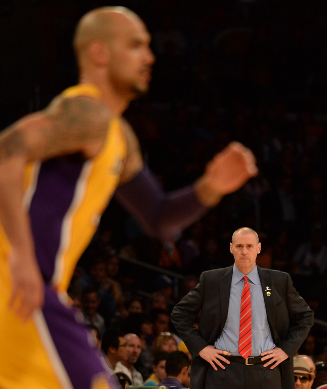 . Dallas Mavericks head coach Rick Carlisle in the first quarter during an NBA basketball game against the Los Angeles Lakers in Los Angeles, Calif., on Friday, April 4, 2014.  (Keith Birmingham Pasadena Star-News)