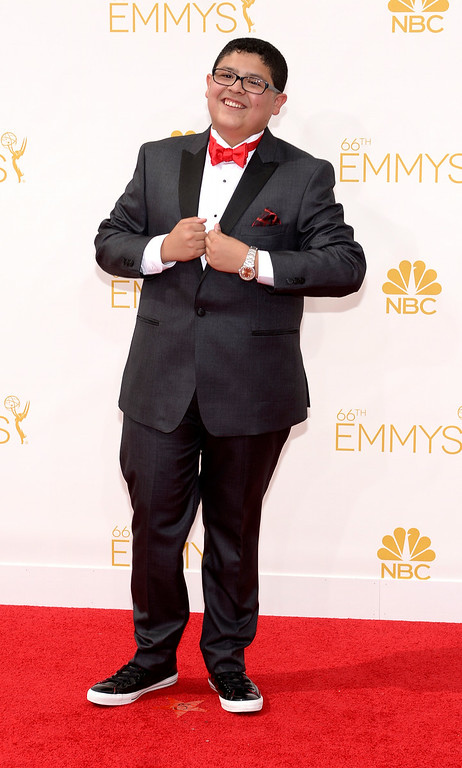 . Rico Rodriguez on the red carpet at the 66th Primetime Emmy Awards show at the Nokia Theatre in Los Angeles, California on Monday August 25, 2014. (Photo by John McCoy / Los Angeles Daily News)