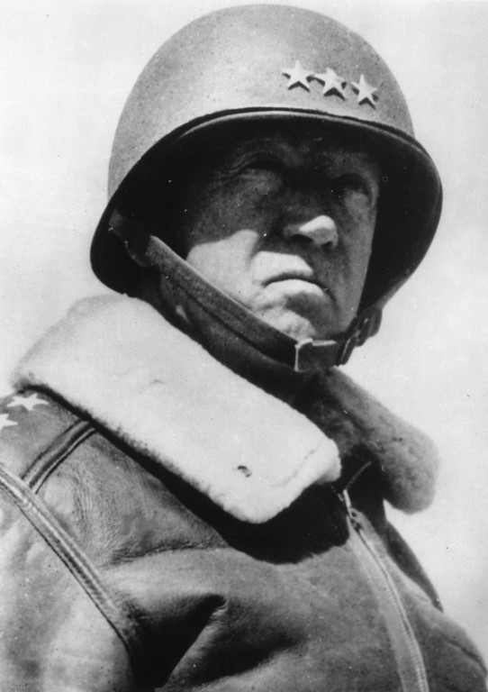 . circa 1944:  General George Smith Patton (1885 - 1945) also known as \'Old Blood And Guts\' an American General  in command of the US 7th Army in the Sicilian Campaign and 3rd Army in North Europe.  (Photo by Keystone/Getty Images)