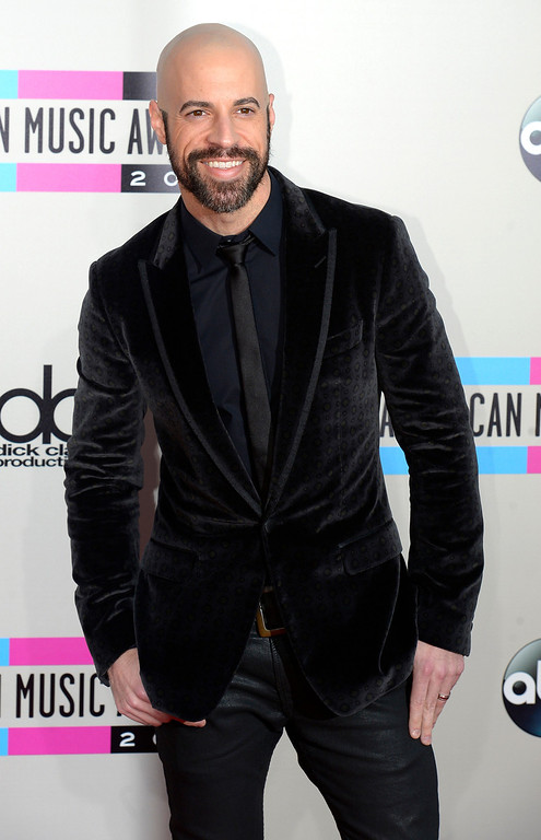 . Chris Daughtry arrives to the American Music Awards  at the Nokia Theatre in Los Angeles, California on Sunday November 24, 2013 (Photo by Andy Holzman / Los Angeles Daily News)