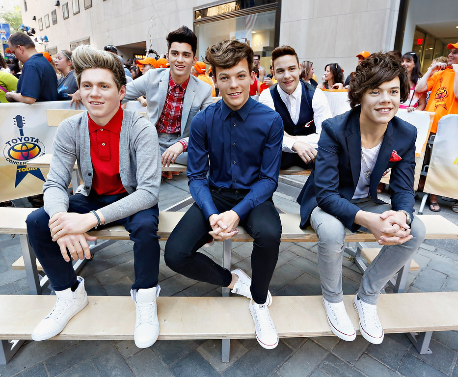 . NEW YORK, NY - JULY 19:  Madame Tussauds wax figures of the globally renowned British pop boy-band sensation, One Direction appear on NBC News\' \'Today\' show on July 19, 2013 in New York City.  (Photo by Cindy Ord/Getty Images for Madame Tussauds)