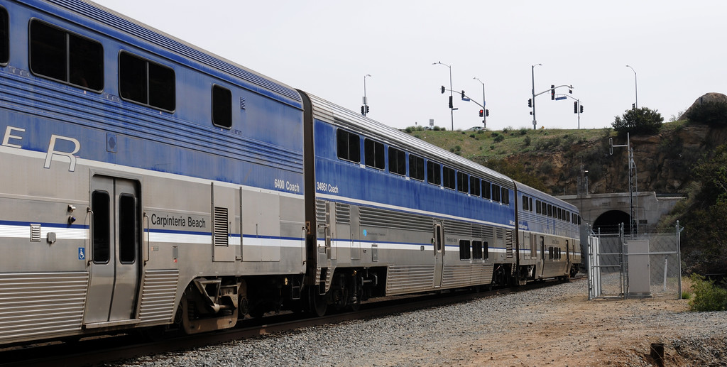 . A pedestrian was struck and killed by an Amtrak train in Chatsworth at the Topanga Canyon Blvd. tunnel Friday morning.  It happened about 9 a.m., when a man in his 60s was near the entrance of a train tunnel below the Santa Susana Pass on April 4, 2014 (Photo by Dean Musgrove/Los Angeles Daily News)