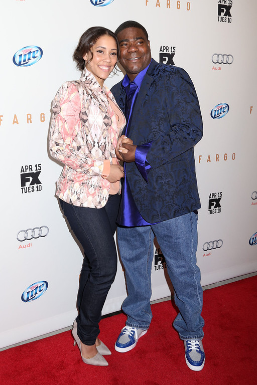 ". Tracy Morgan and Megan Wollover attend the FX Networks Upfront premiere screening of ""Fargo\"" at the SVA Theater on Wednesday, April 9, 2014 in New York. (Photo by Greg Allen/Invision/AP)"