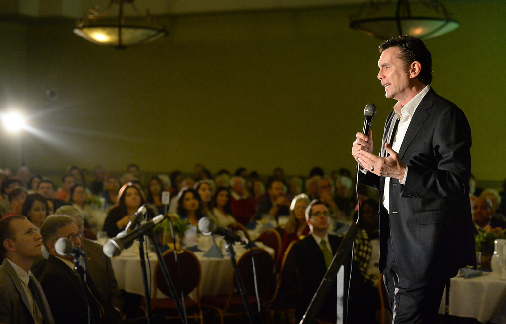 . Former mob boss, Michael Franzese, talks about his life during the 49th annual Mayor�s Prayer Breakfast at the Radisson Hotel Whittier on Friday April 18, 2014. The prayer breakfast is modeled after the National Prayer Breakfast in Washington D.C. and was started in Whittier in 1965 . (Staff Photo by Keith Durflinger/Whittier Daily News)