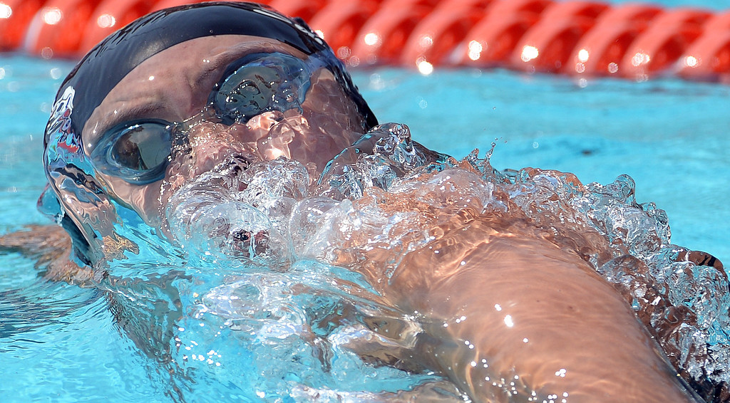 . Glendora\'s Catherine Sanchez competes in the 200 freestyle yard race during the Division 2 CIF Southern Section Swimming Championships in the Riverside Aquatics Complex at Riverside City College in Riverside, Calif., on Saturday, May 17, 2014.