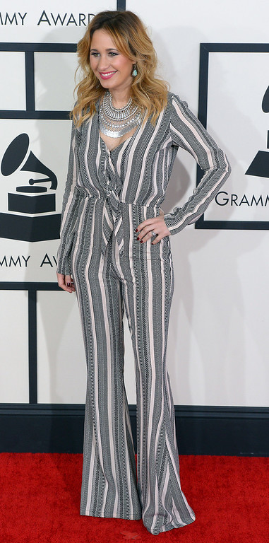 . Jessi Alexander arrives at the 56th Annual GRAMMY Awards at Staples Center in Los Angeles, California on Sunday January 26, 2014 (Photo by David Crane / Los Angeles Daily News)