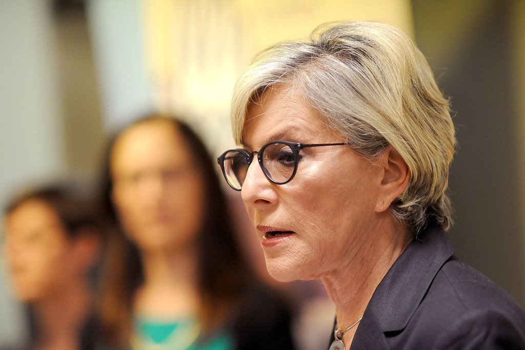 . U.S. Senator Barbara Boxer holds a press conference at the Valley Community Clinic in North Hollywood to discuss how the Affordable Care Act is expanding access to quality, affordable health care for millions of Californians August 22, 2013.(Andy Holzman/Los Angeles Daily News)