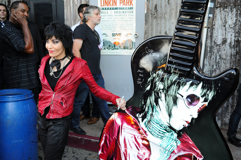 . Joan Jett before her concert at the House of Blues as part of the Sunset Strip Music Festival, Thursday, August 1, 2013. (Michael Owen Baker/L.A. Daily News)