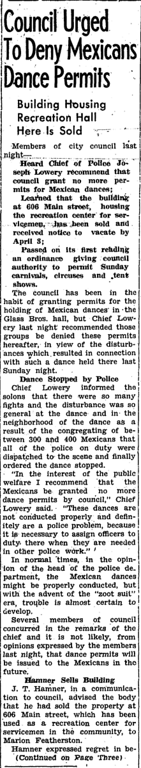 . During the summer of 1943, while the heat hit the streets in the form of fights and riots between the sailors and latino youth, newspapers headlines only fueled the fires of racism and fear. (Article originally published in the Corona Daily Independent on March 3, 1943)