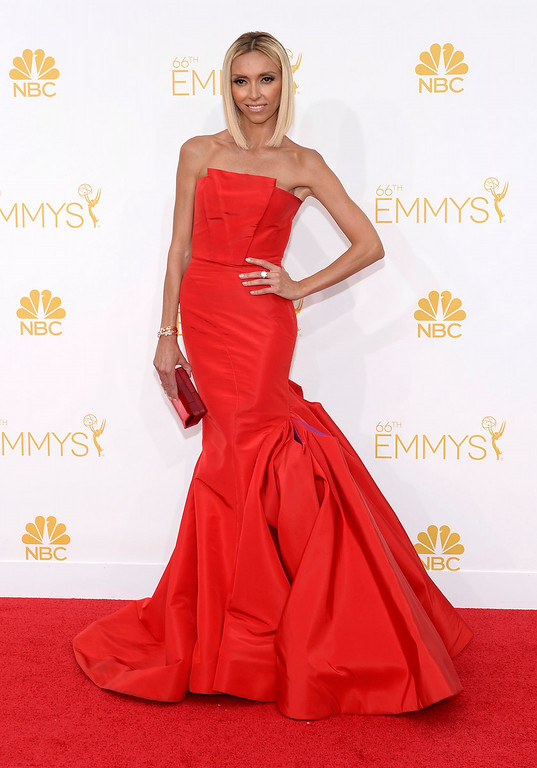. Giuliana Rancic on the red carpet at the 66th Primetime Emmy Awards show at the Nokia Theatre in Los Angeles, California on Monday August 25, 2014. (Photo by John McCoy / Los Angeles Daily News)